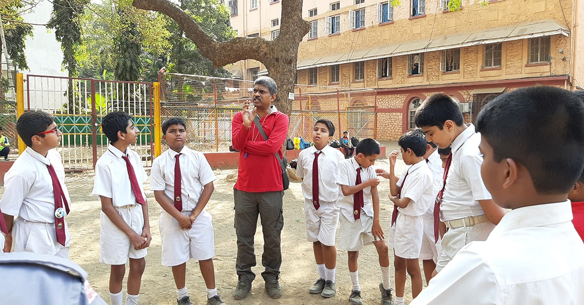 Out Bound Training For The Students Of Reputed School In Mazgaon