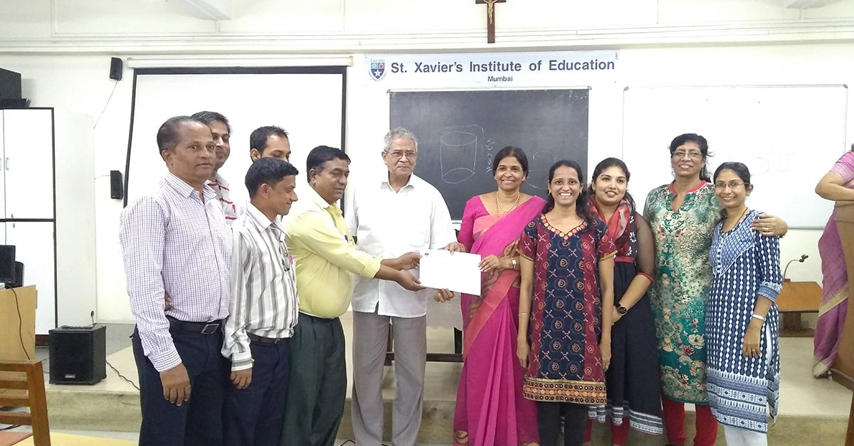 St Xaviers workshop photos with faculties